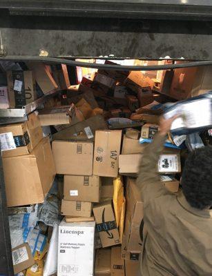 Fully Loaded UPS Truck
